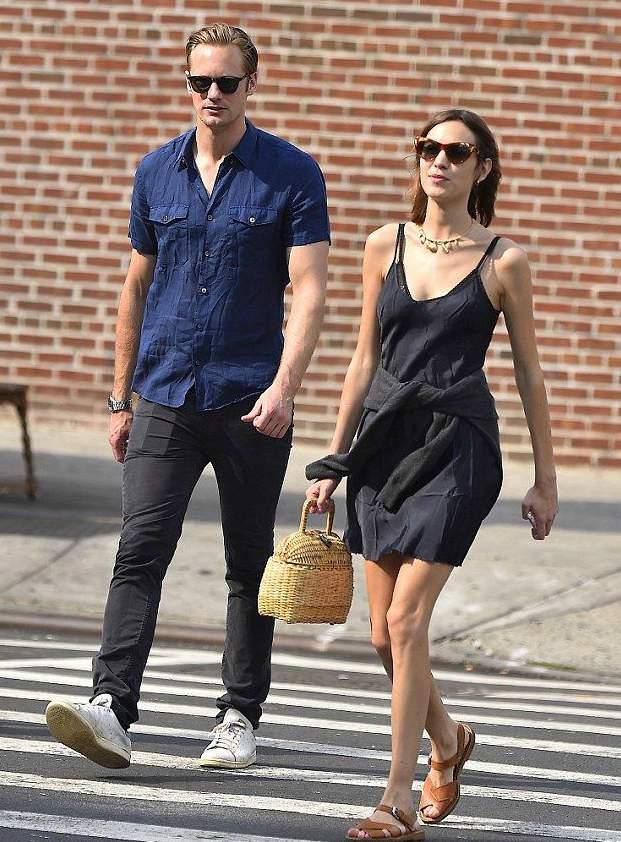 Alexander Skarsgaard and his ex-girlfriend Alexei Chang (Photo: DailyMail)